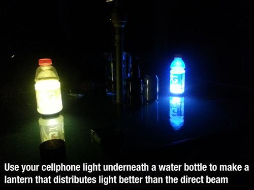 glow bottle life hacks
