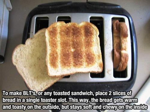 food toast life hacks