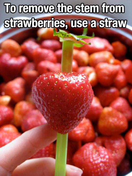 Strawberry food life hack