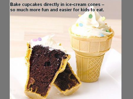 cupcake icecream cone
